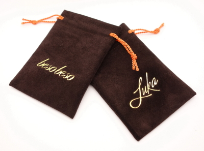 Ebene Silsuede Jewelry Pouches